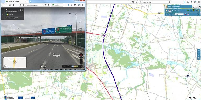 Street View w Geoportalu Województwa Łódzkiego